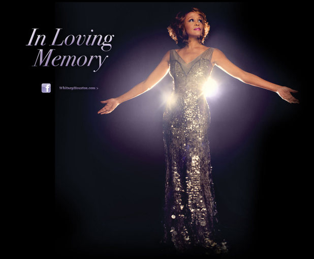 Screenshot of Whitney Houston's website
