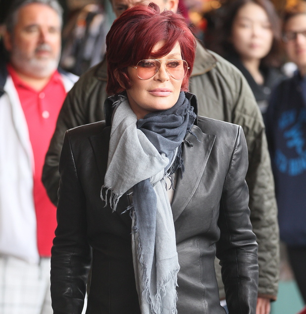 Sharon Osbourne at The Grove to film a segment for the show, 'Extra' Los Angeles