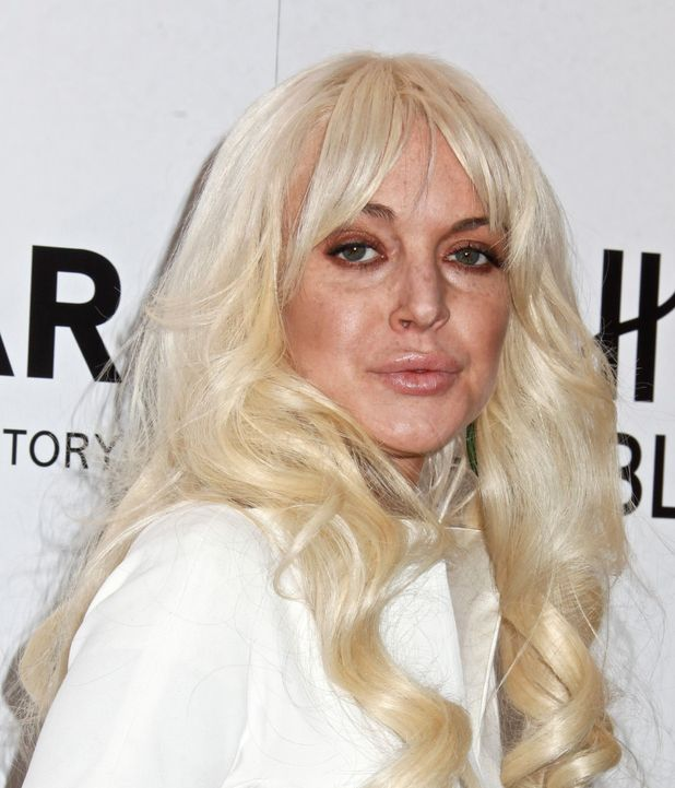 Lindsay Lohan at the AmFAR Benefit Gala