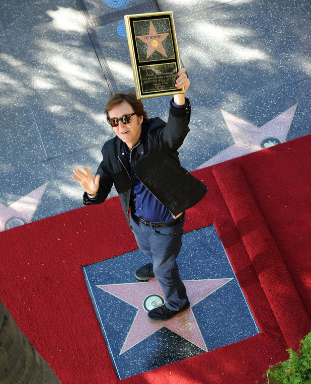Paul McCartney honored with Star on The Hollywood Walk Of Fame