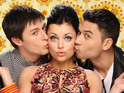 Ricky Norwood, Shona McGarty and Tony Discipline get into the Valentine's spirit.