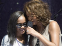 Whitney Houston's daughter is upset with father over funeral disappearing act.