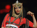 MIA sparked controversy by flipping her middle finger during Madonna's set.