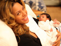 Beyoncé says that she primped herself before giving birth to Blue Ivy.