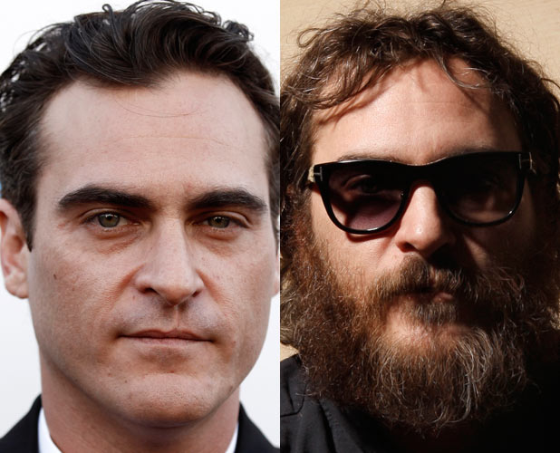 Joaquin Phoenix and the unkempt rapper