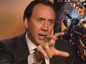 Nicolas Cage snake attack
