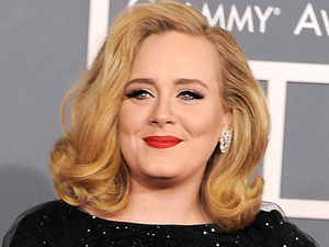 The 54th Annual Grammy Awards: Red Carpet: Adele