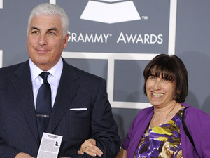 The 54th Annual Grammy Awards: Red Carpet: Mitch and Janis Winehouse