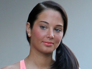 Tulisa Contostavlos seen leaving her hotel in Los Angeles