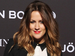 Caroline Flack arriving at the Bjorn Borg LFW Party