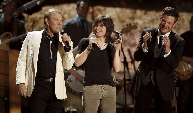 Glen Campbell, Reid Perry and Blake Shelton
