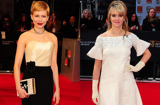 Michelle Williams, Edith Bowman, BAFTAs 2012