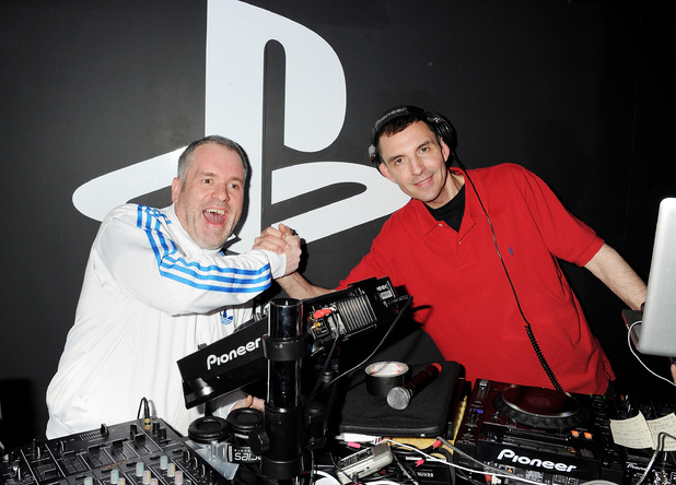 Chris Moyles and Tim Westwood at The Playstation Vita Rooms pre-launch event