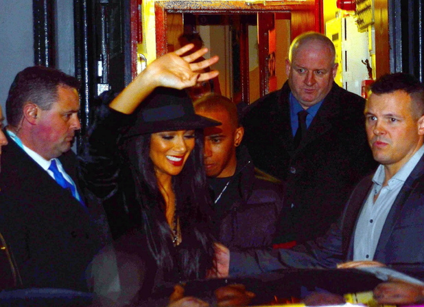 Nicole Scherzinger and Formula One Driver Lewis Hamilton seen leaving the Olympia Theatre after her concert