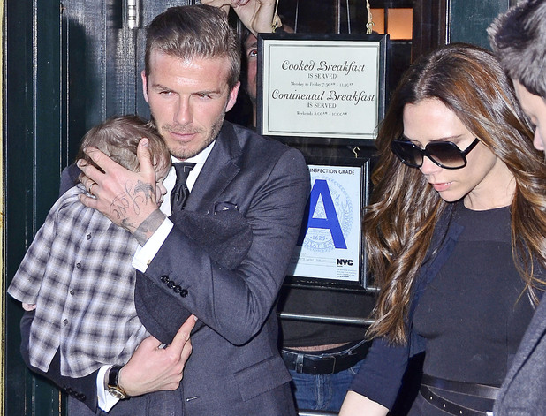 David, Victoria and Harper Beckham