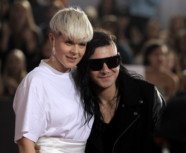 Robyn, left, and Skrillex