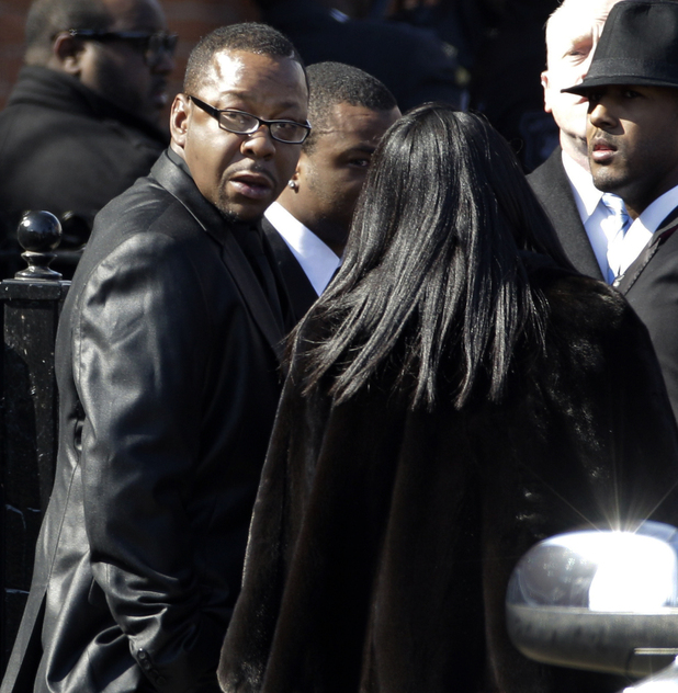 Bobby Brown leaves Whitney Houston's funeral