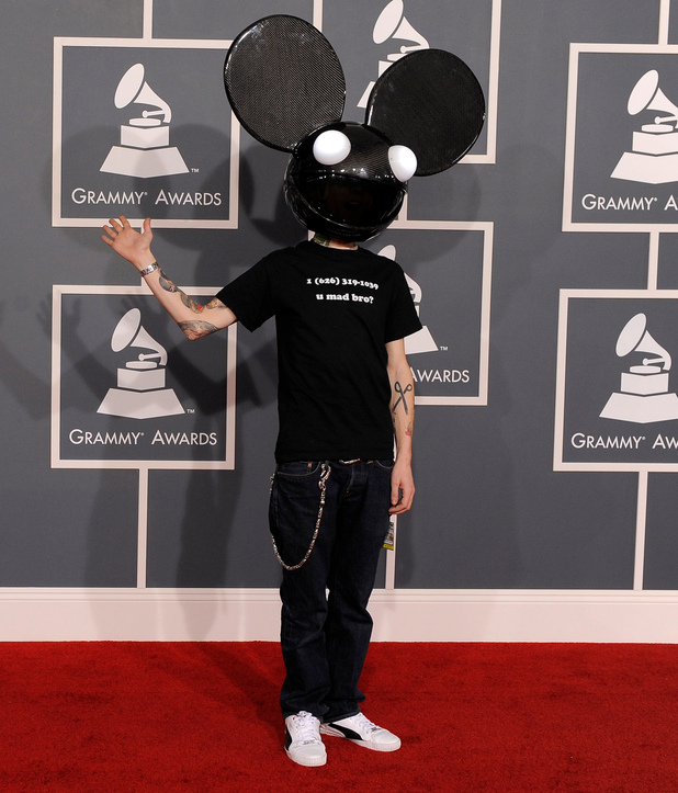 The 54th Annual Grammy Awards: Red Carpet: Deadmau5
