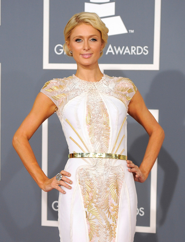 The 54th Annual Grammy Awards: Red Carpet: Paris Hilton