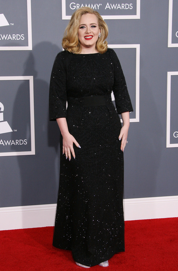 Adele Adkins 54th Annual GRAMMY Awards (The Grammys) - 2012 Arrivals held at the Staples Center Los Angeles, California