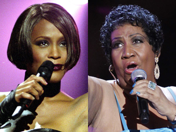 Aretha Franklin and Whitney Houston
