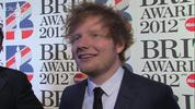 Ed Sheeran shows us his trainers, chats Brits and teases his forthcoming big US collaborations.