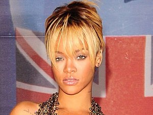 Rihanna arriving for the 2012 Brit Awards at The O2 Arena, London