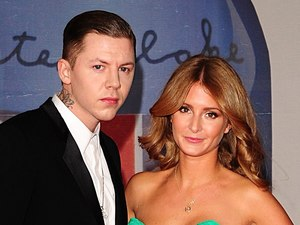 Professor Green and his new girlfriend, Made In Chelsea star Millie Mackintosh arriving for the 2012 Brit Awards at The O2 Arena, London