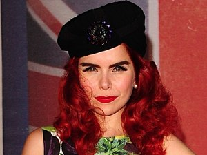 Paloma Faith arriving for the 2012 Brit Awards at The O2 Arena, London