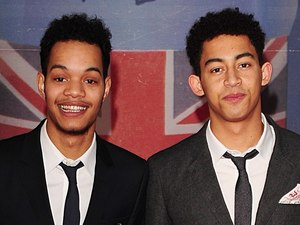 Rizzle Kicks arriving for the 2012 Brit Awards at The O2 Arena, London