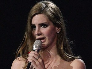 Lana Del Rey collects her International Breakthrough award during the 2012 Brit awards at The O2 Arena, London