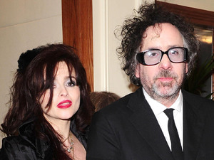 Helena Bonham Carter and Tim Burton arriving at the Bafta After Party at the Grosvenor Hotel in London