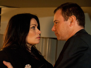 Carla returns to the factory alone to have it out with Frank. He ridicules her and then threatens to rape her again, leaving her fearing for her safety