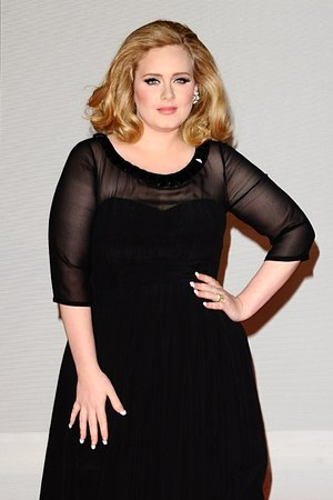 Adele arriving for the 2012 Brit Awards at The O2 Arena, London