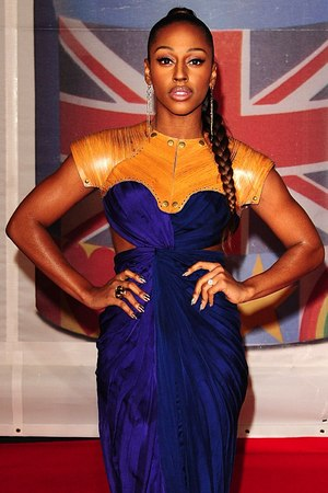 Alexandra Burke arriving for the 2012 Brit Awards at The O2 Arena, London
