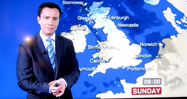 BBC weatherman Alex Deakin