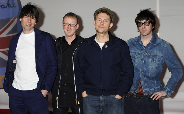Blur arriving for the 2012 Brit Awards at The O2 Arena, London