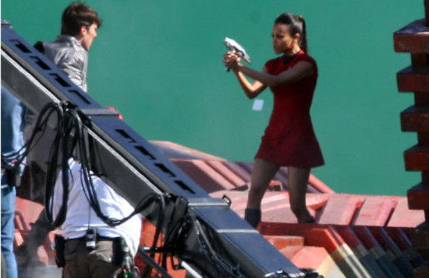 On set picture from 'Star Trek 2'