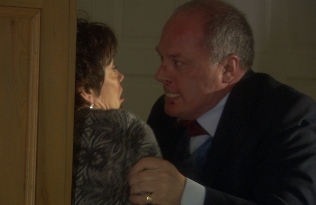 Heston Carter (Owen Brenman) is pushed to breaking point by Marina's (Marian McLoughlin) abuse