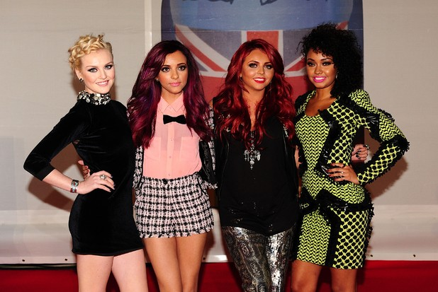 Little Mix arriving for the 2012 Brit Awards at The O2 Arena, London