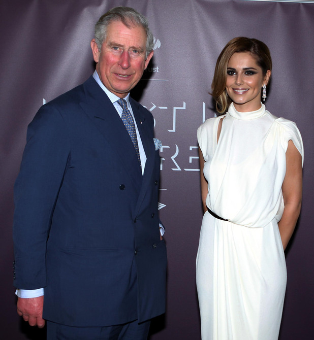 The Prince of Wales meets Cheryl Cole (right) at the Prince&#39;s Trust&#39;s Invest in Futures gala dinner held at The Savoy, London
