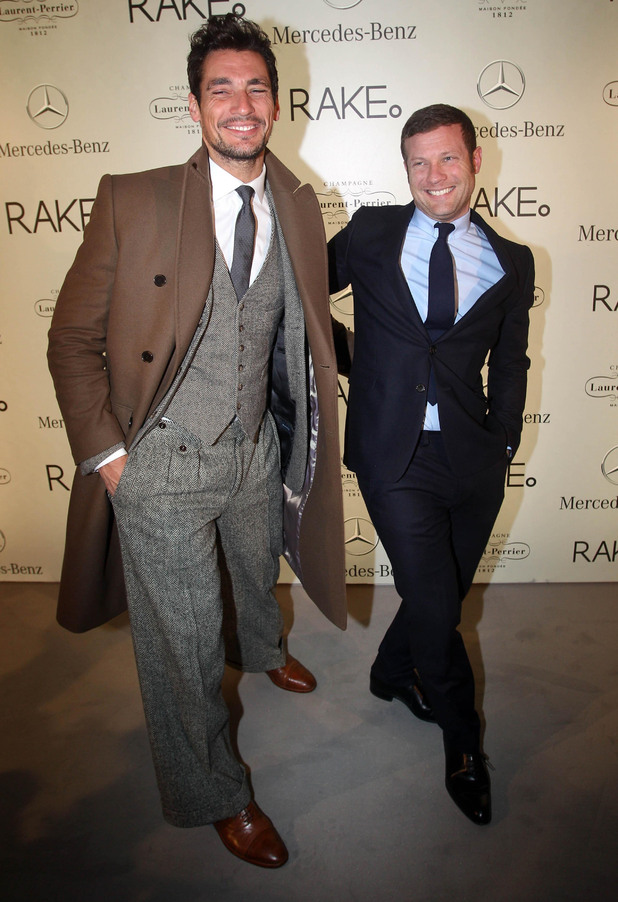 David Gandy and Dermot O'Leary