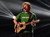 Ed Sheeran performs during the 2012 Brit awards at The O2 Arena, London