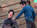 Watch Zachary Quinto and Benedict Cumberbatch film a scene from Star Trek 2.