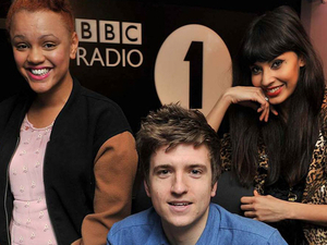 Greg James, Gemma Cairney and Jameela Jamil 