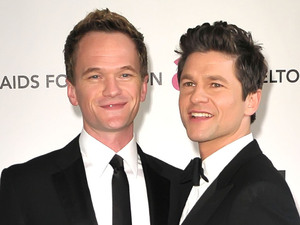 Neil Patrick Harris and David Burtka The 20th Annual Elton John AIDS Foundation's Oscar Viewing Party held at West Hollywood Park - Arrivals Los Angeles, California - 26.02.12