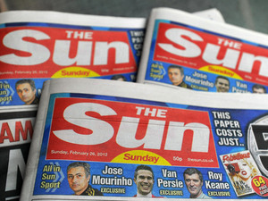 The first copies of the new Sun on Sunday newspaper