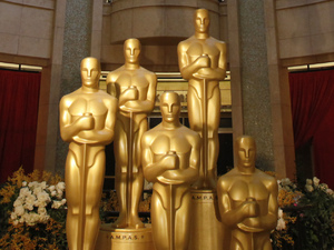 Oscars 2012 - Kodak theatre Oscar statues