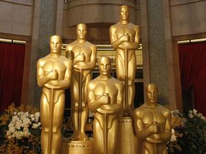 Oscars 2012 - Kodak theatre Oscar statues