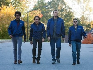 Richard Ayoade, Ben Stiller, Vince Vaughn and Jonah Hill in Neighbourhood Watch